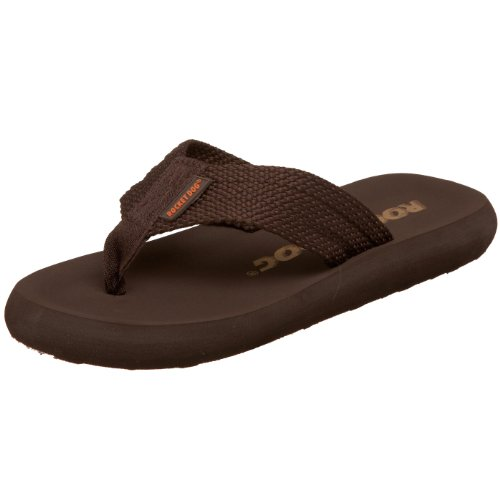 Rocket Dog Women's Sunset Webbing Flip Flop, Brown, 8 M US