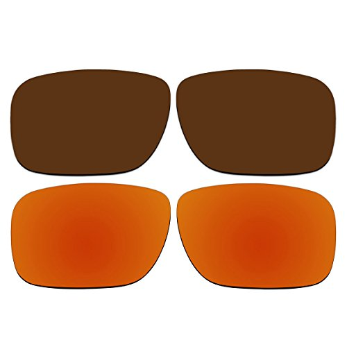 Replacement Polarized Bronze Brown and Fire Red Lenses for Oakley Holbrook - Holbrook Bronze Polarized