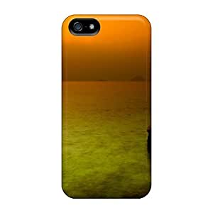 New Premium Flip Case Cover Embracing The Sunset Skin Case For Iphone 5/5s