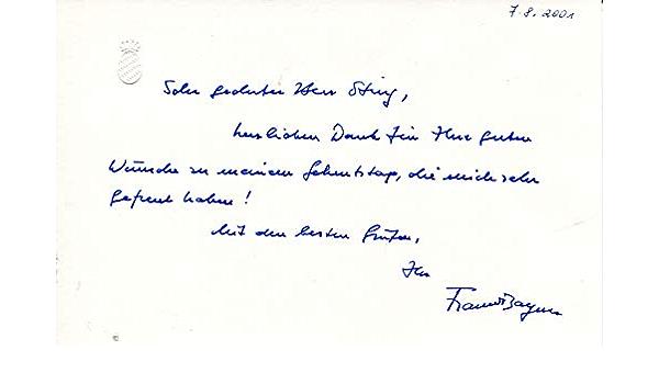 Autogramm FRANZ VON BAYERN-Oberhaupt Wittelsbach-Königreich-Adel//Royal-signiert