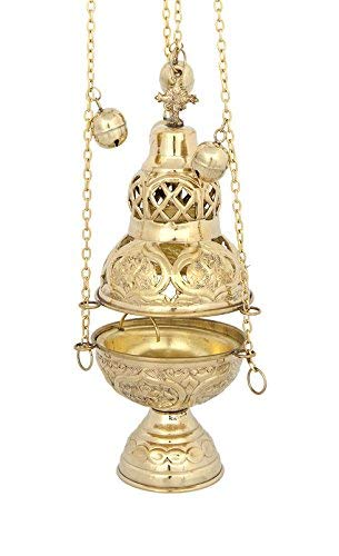 Brass Christian Church Thurible Incense Burner Censer (201 B)