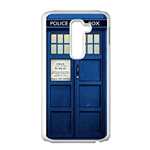 Doctor Who blue police box Cell Phone Case for LG G2