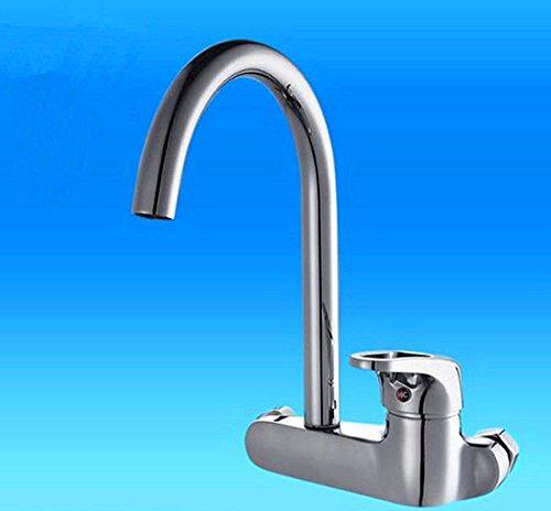 NewBorn Faucet Wasserhähne Warmes und Kaltes Wasser Größe Qualität Zwei Löcher in die Wand Küche Leitungswasser Wäscheservice Pool gemäße Waschbecken Wasser Mischventil Tippen