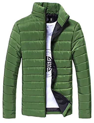 Collar Long Stand Men's Jacket Packable security Green Lightweight Sleeve Blackish Down EX1dPq