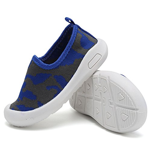 CIOR Kids Slip-on Casual Mesh Sneakers Aqua Water Breathable Shoes For Running Pool Beach (Toddler / Little Kid) SC1599 Blue 19 5