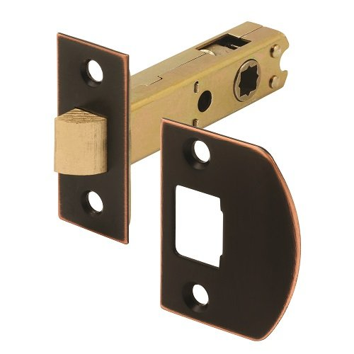 Prime-Line Products E 2772 Passage Door Latch, 9/32 In. & 5/16 In. Square Drive, Classic Bronze