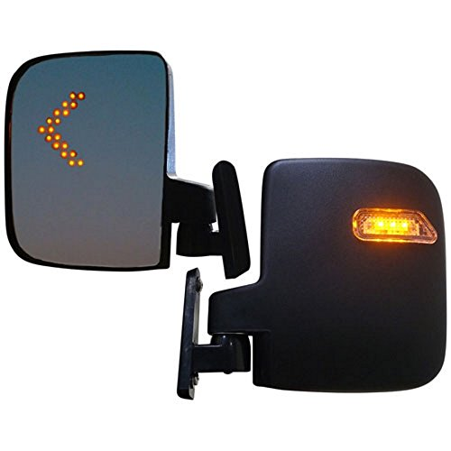 Golf Cart Mirrors With LED Turn Signals - Club Car, EZGO, Yamaha - Golf Carts - Kit Signal Turn Mirror
