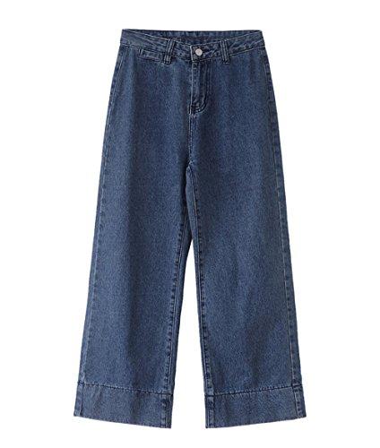 Straight Eleganti Pantaloni Flare Casual JOTHIN Larghi Calzoni lavaggio lunghe hip Unita Donna Invernali Tinta 2017 Jeans alta Corea hop Vita x0pwT74pq