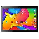 BENEVE Tablet PC de 10 Pulgadas,Tab10 Inch 1280 * 800 Resolución,Android 7.0 Nougat Dual sim 4G Panel de 10.1 HD IPS Pulgadas, Procesador MTK QuadCore WiFi PC(Negro)
