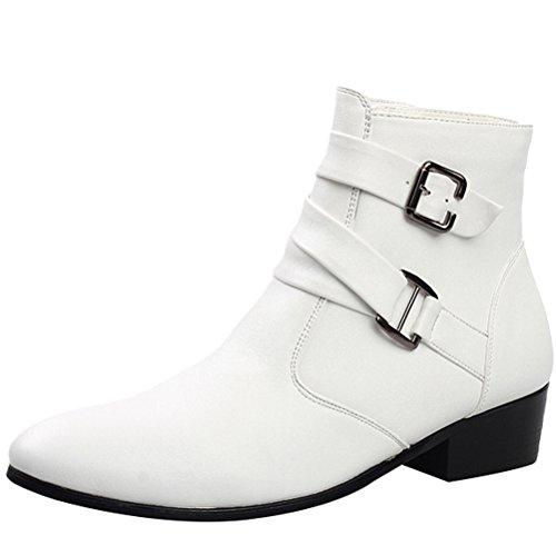 MatchLife Herren Leisure Kurzschaft Stiefel Martin Stiefel Style1-Weiß