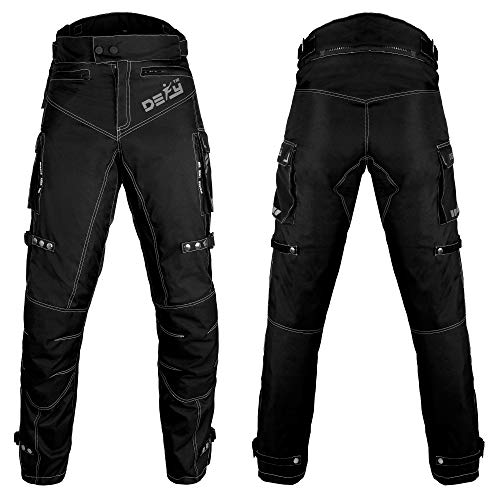 Motorcycle Pants For Men Biker Dual sport Motorbike Pant Waterproof, Windproof Riding Pants All-Weather with Removable CE Armored (Waist 40''- Inseam 34'')