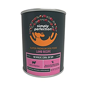 Simply Perfection Super Premium Lamb Recipe Canned Dog Food 79.2oz Case, 6 cans