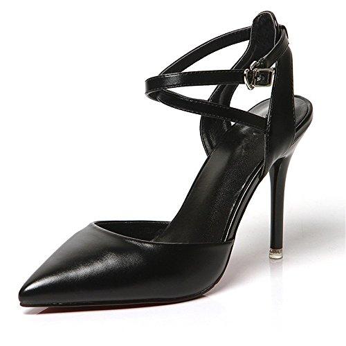 Punta Cabezal Mujer Black El Talón Del HXVU56546 Sandalias El Finos Verano Con Nueva Con En Sandalias Zapatos La Los De Alto Zapatos H6fYHqw