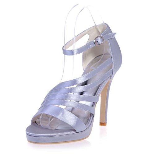 Donna A leggings L Aperta In Silver 5915 Party 23 Sandali yc night Punta Pelle xaxBqIC8