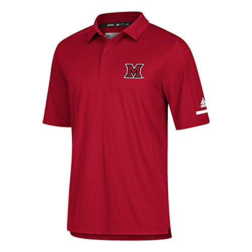 adidas Miami of Ohio Redhawks Men's Polo Coaches Short Sleeve (X-Large)