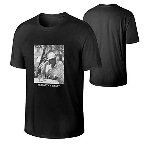 TUIYEWH Jay-Z & Biggie- Brooklyn's Finest Men's Short Sleeve Round Neck T Shirt M Black