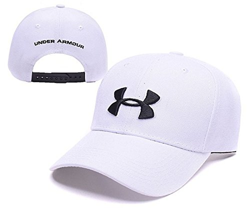 Under Armour Unisex Hip-Hop Snapback Baseball Caps Mens Womens Adjustable Bboy Fashion Hat(white)