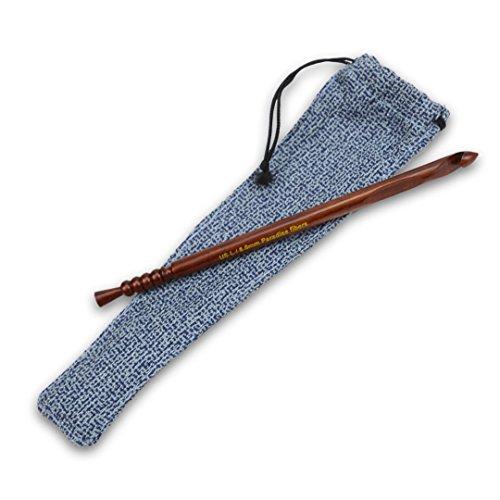 Paradise Fibers Artisan Crochet Hooks - Rosewood, Size K ()