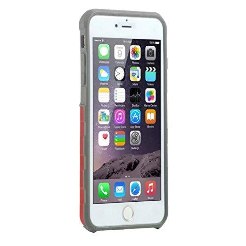 iPhone 5 Coque,iPhone 5S Coque,iPhone SE Coque,Lantier souple intérieure TPU Bumper & Shell dur massif PC Shock-Absorption & Anti-Scratch hybride double couche Slim Cover pour Apple iPhone 5/5S/SE Rou
