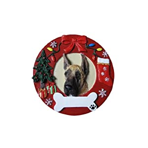 Great Dane Christmas Ornament Wreath Shaped Easily Personalized Holiday Decoration Unique Great Dane Lover Gifts 59