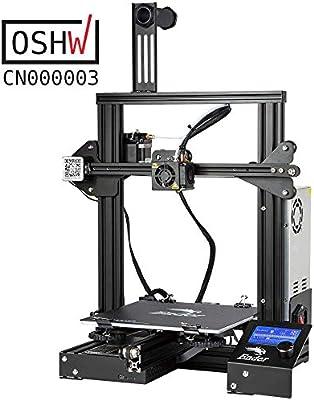 Comgrow Creality Ender 3 Impresora 3D Aluminum DIY con Reanudar la ...
