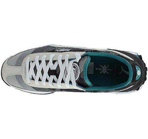 Puma Uomo Easy Rider Graphic Dp Ankle-high Scarpa Da Corsa Puma Bianco / Navigazione