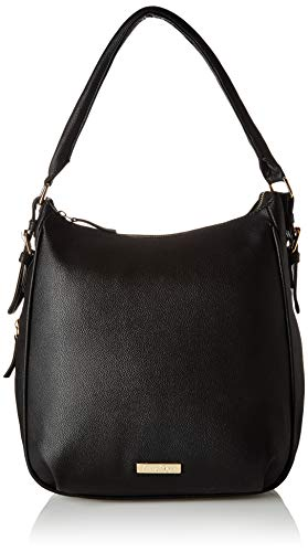 Leatherette Womens Tote Bag - Lica Pezo Women Handbag (Black)