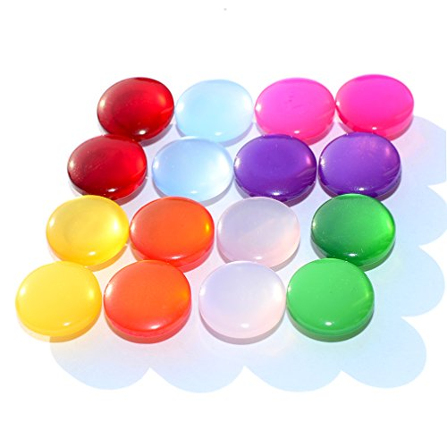 DGOL 160pcs Shinning Colorful Mushroon Shape Sewing Craft Buttons Kids Clothes Coat Button Mixed 8 Color