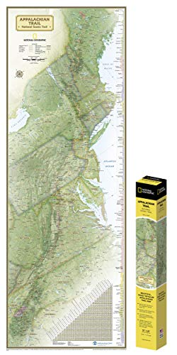 National Geographic: Appalachian Trail Wall Map in gift box Wall Map (18 x 48 inches) (National Geographic Reference Map) ()