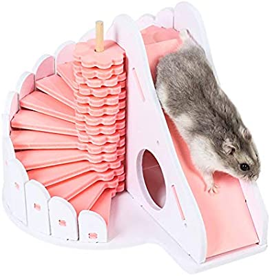 Tjackson Wooden hamster sleep nest, climbing ladder toy