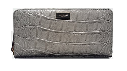 Kate-Spade-Neda-Rialto-Place-Cliffgrey-Embossed-Leather-Zip-Around-Wallet