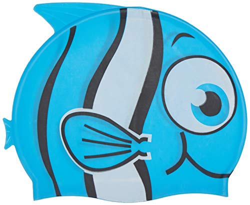 NewYu Fitness Kids Swim Cap, Fish Swimming Caps Boys Girls Age 3-10, One Size