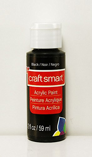Craft Smart Acrylic Paint 2 Fl.oz. 1 Bottle Black