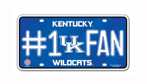 ildcats #1 Fan Metal License Plate Tag (Kentucky Wildcats Fan)