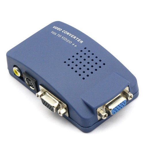 Monoprice VGA to RCA Adapter PC to TV Video Converter- Blue