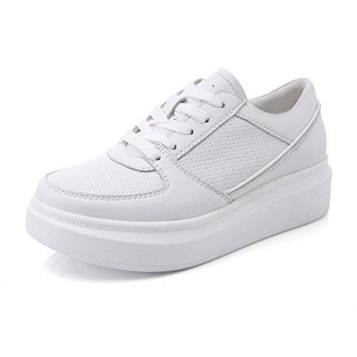 Zapatitos blancos/Versión coreana de zapatos de la plataforma/Zapatos de plataforma/Deportes y ocio zapatos A