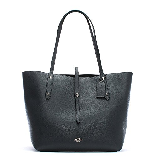 Borsa Tote Navy 58849 Market Coach Shoppin Leather gRxnWdd