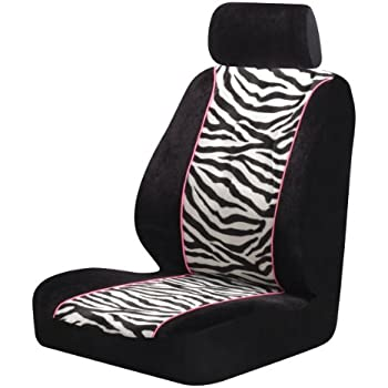 Amazon Com Zebra Bucket Seat Covers Pair Black Amp White