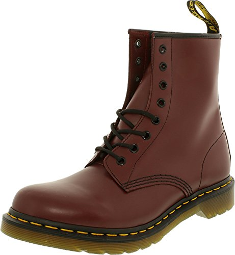 Dr. Martens Women's 1460 W Leather Red Cherry Rogue Mid-Calf Boot - - Footwear Red Mid Leather