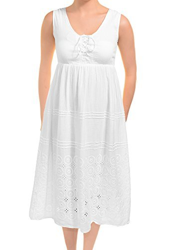 Gauze White Sundress (Medium) ()