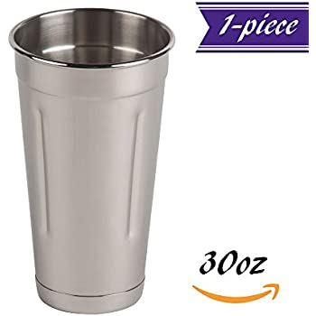 30 oz Malt Cup Stainless Steel, Professional Blender Cup, Milkshake Cup, Cocktail Mixing Cup, Commercial Grade