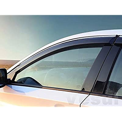 Vesul Side Window Visor Vent Rain Guard Shield Wind Deflectors Sun Shade Compatible with Honda Accord 2020 2020: Automotive
