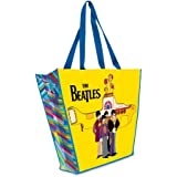 Vandor 64186 The Beatles Yellow Submarine Large Recycled Shopper Tote, Yellow