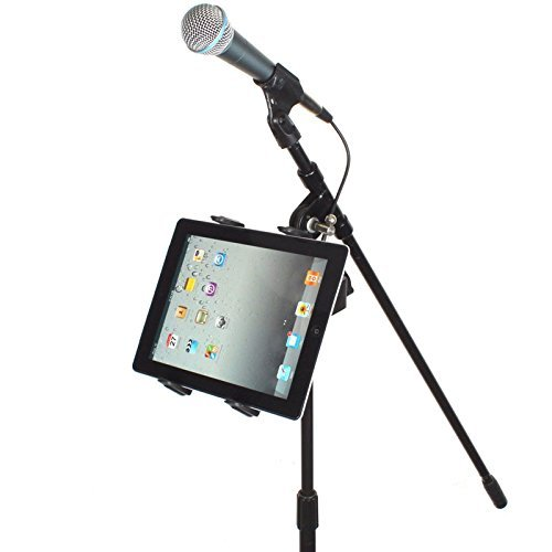 chargercity music mic microphone stand tablet mount with 360 swivel adjust holder for apple. Black Bedroom Furniture Sets. Home Design Ideas