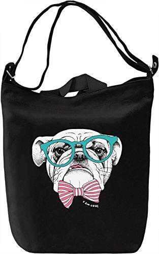Gentlemen Dog Borsa Giornaliera Canvas Canvas Day Bag| 100% Premium Cotton Canvas| DTG Printing|