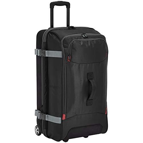 AmazonBasics Rolling Travel Duffel Bag Luggage with Wheels, Large, Black