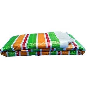 QIANGDA Colour Bar Tarpaulin Waterproof Plastic Awning Woven Fabric Pasture Warehouse Anti-wind -65g/m²,Thickness 0.22mm, 8 Sizes Optional ( Size : 3 x 4m )
