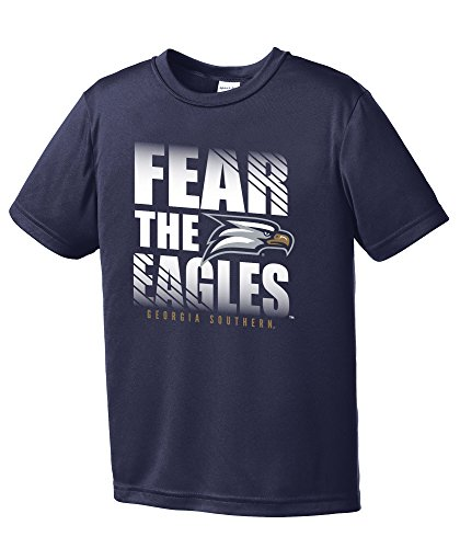 NCAA Georgia Southern Eagles Youth Fear Short Sleeve Polyester Competitor T-Shirt, Medium,Navy -