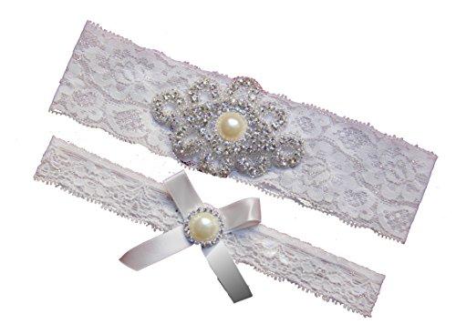 Rhinestone Vintage Wedding Garter Bridal product image