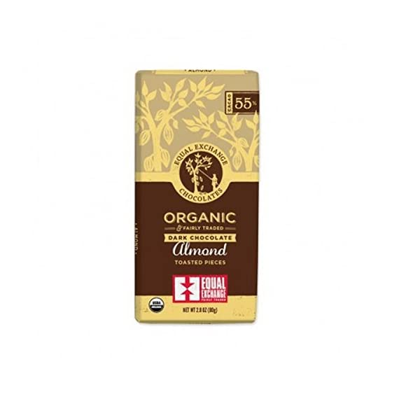 Equal Exchange Chocolate Bar,Og2,Drk W/Almnd 2.8 Oz (Pack Of 12) 1 <p>Experience the mouthwatering combo of rich dark chocolate with chunks of organic almonds. Vegan and soy-free. Equal Exchange Organic Dark Chocolate Bar - 95%+ Organic</p>